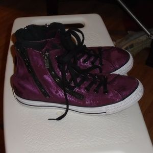 Converse Burgundy Leather High Top Size 9
